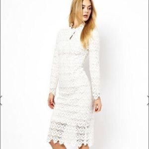 Arrogant Cat High Neck Lace Dress